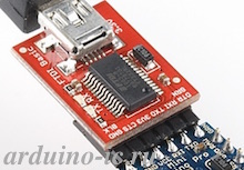 RS232-TTL  FT232RL  USB-UART конвертер Mini-Usb 3.3V-5V